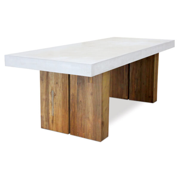 olympus_87_inch_teak_dining_Table_Ivory_White
