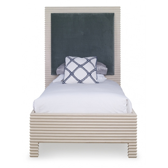 Belmont_twin_bed_White_Rustic_Pine_Head-on_Mr.Brown