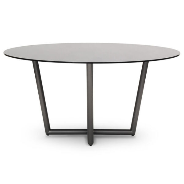 Modern Round Dining Table Smoked Glass Villa Vici Furniture Store And Interior Design Resource In New Orleans