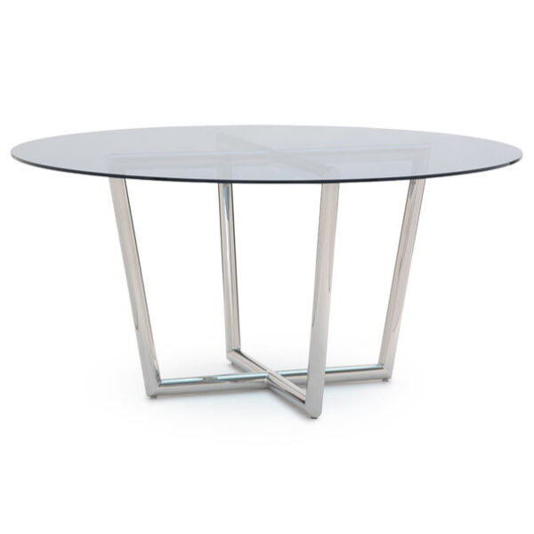modern-dining-table-stainless-blue-glass-mitchell-gold-bob-williams