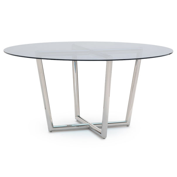 Shop Luxurious Modern Design Stainless Steel Dining Set: Modern Dining Table Blue Glass - VILLA VICI