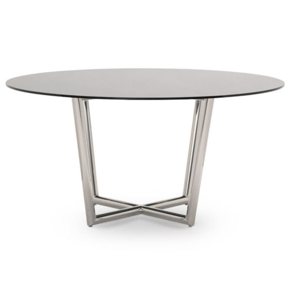 modern-dining-table-stainless-smoked-glass-front-mitchell-gold-bob-williams